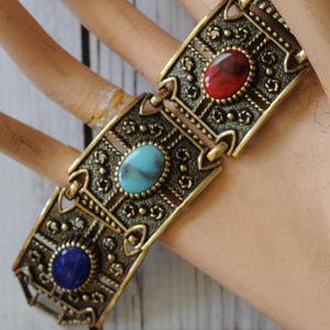 Vintage Sarah Coventry multicolor cab bracelet